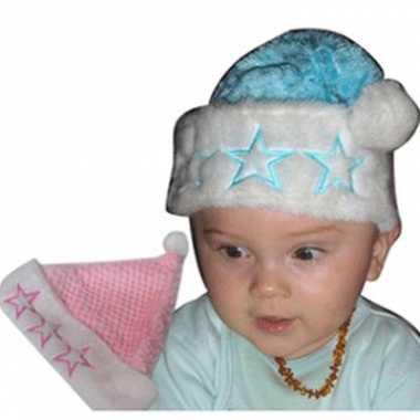 Baby kerst mutsje sterren