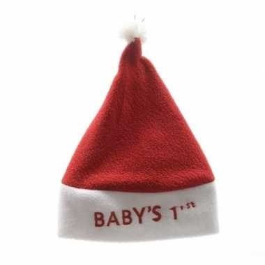 Baby kerstmuts babys ste/eerste kerst