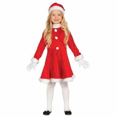 Budget kerstjurkje verkleed kostuum muts meisjes