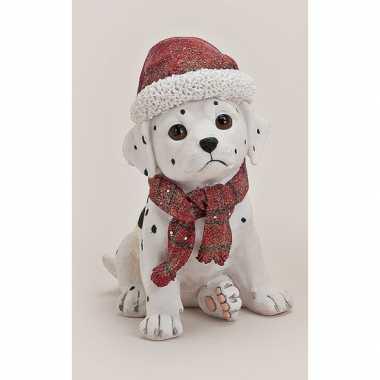 Dalmatier beeldje kerstmuts