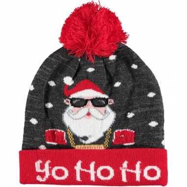Foute kerstmutsen/mutsen/wintermutsen yo ho ho verlichting