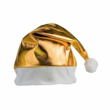 Gouden glimmende kerstmuts