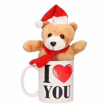 I love you mok kerst knuffelbeertje