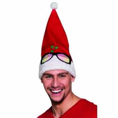 Kerstmuts bril opdruk