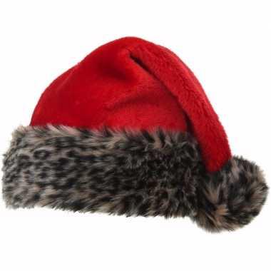 Kerstmuts luipaard bontrand