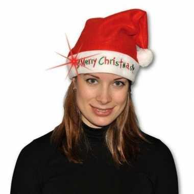 Kerstmuts merry christmas licht