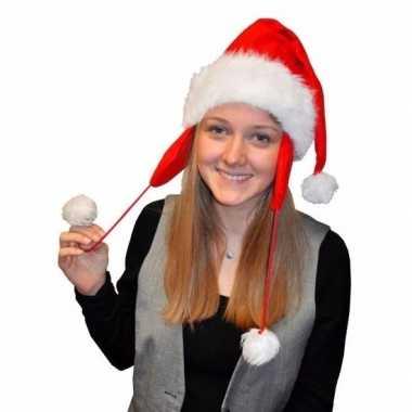 Kerstmuts pluche oorflappen volwassenen