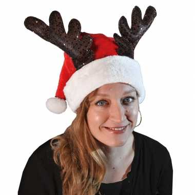 Kerstmuts rendier gewei volwassenen