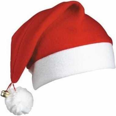 Kerstmuts wit/rood belletje volwassenen