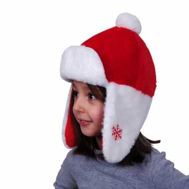Kerstmutsen pluche oorflappen kinderen