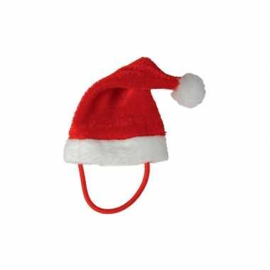 Mini kerstmuts bandje een knuffelbeest/knuffel