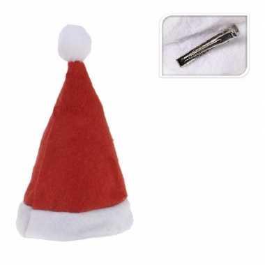 Mini kerstmutsje clip