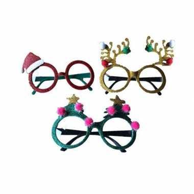 Rode brillen/feestbrillen kerstmuts volwassenen