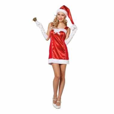 Rode sexy kerstvrouw jurk kerstmuts dames