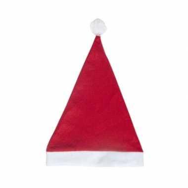 Rode voordelige kerstmuts volwassenen