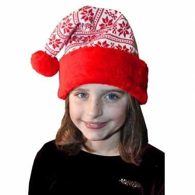 Rood/witte kerstmuts kinderen