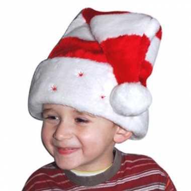 Rood witte kinder kerstmuts