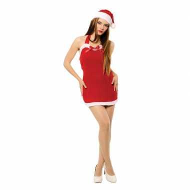 Sexy kerstvrouw jurkje kerstmuts dames