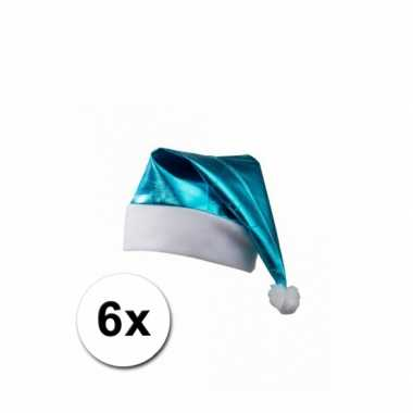 Turquoise glimmende kerstmutsen
