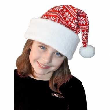 Wit/rode kerstmuts kinderen
