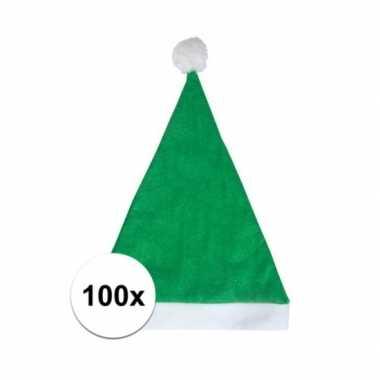 X groene voordelige kerstmuts volwassenen