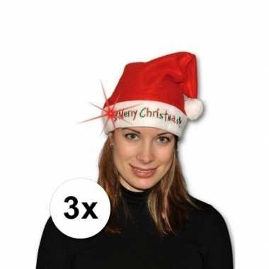 X kerstmuts merry christmas licht