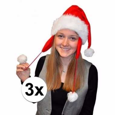 X kerstmuts pluche oorflappen volwassenen