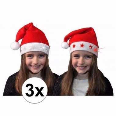 X kerstmuts witte sterren lichtjes kinderen
