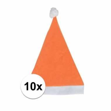 X oranje voordelige kerstmuts volwassenen
