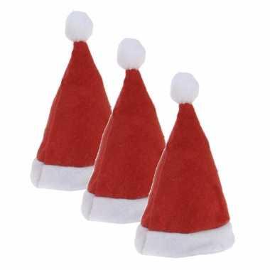 X stuks mini kerstmutsjes clip