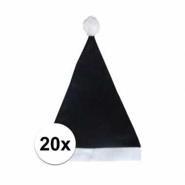X zwarte voordelige kerstmuts volwassenen
