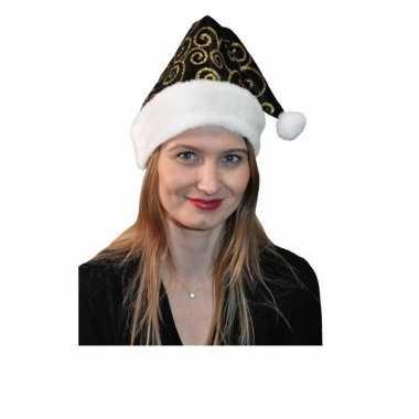 Zwart gouden kerstmuts