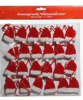 Adventskalender slinger kerstmutsjes