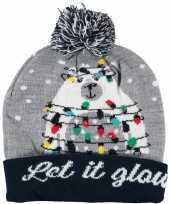 Foute kerstmutsen mutsen wintermutsen let it glow verlichting