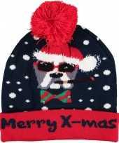 Foute kerstmutsen mutsen wintermutsen merry bij mas verlichting