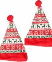 X stuks rode kerstmutsen kinderen gebreide stijl