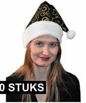 X zwart gouden kerstmuts 10171536
