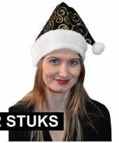 X zwart gouden kerstmuts