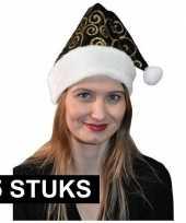 X zwart gouden kerstmutsen 10171534